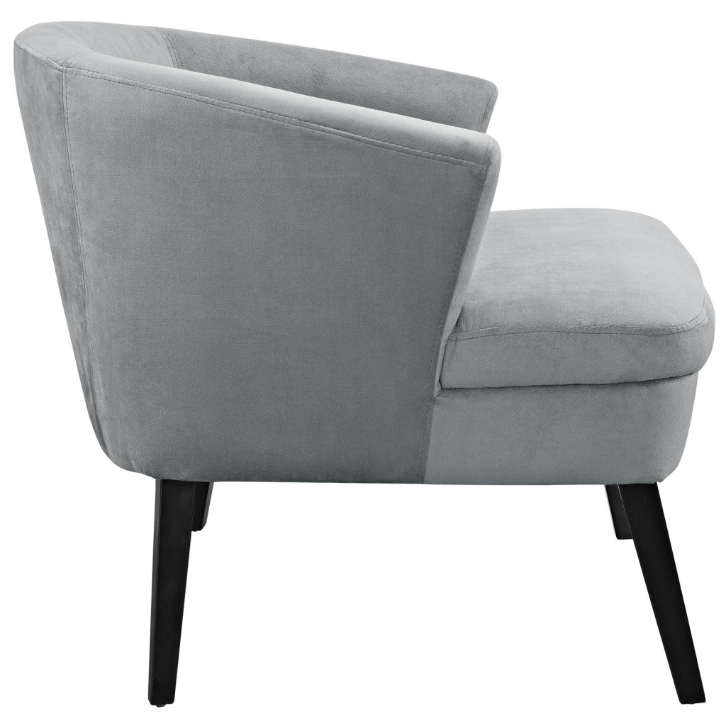 Gray Suede Accent Armchair 2