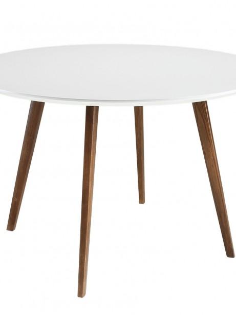 Metro White Walnut Wood Dining Table 1 461x614