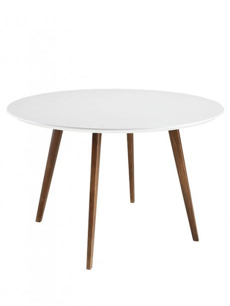Metro White Walnut Wood Dining Table 461x614