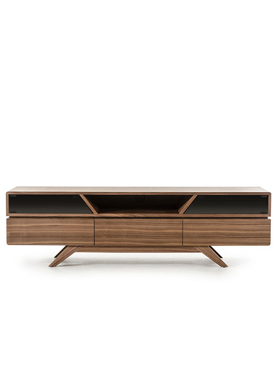 Mid Century Modern Walnut Wood TV Media Stand