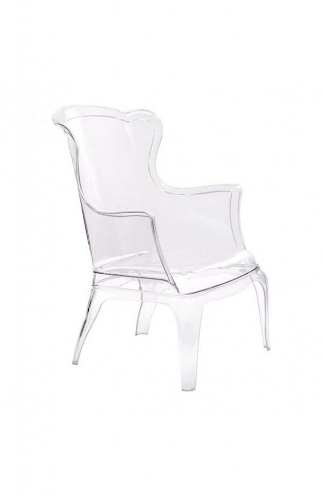 Phantom Clear Accent Chair Modern Furniture Brickell