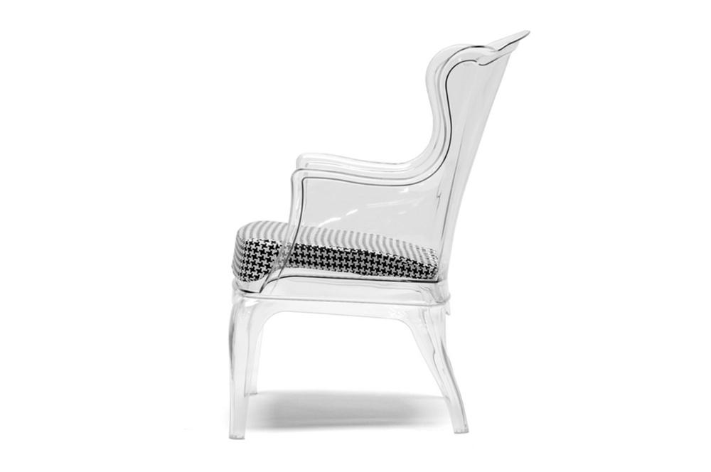 Phantom Clear Accent Chair 2