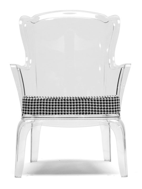 Phantom Clear Accent Chair