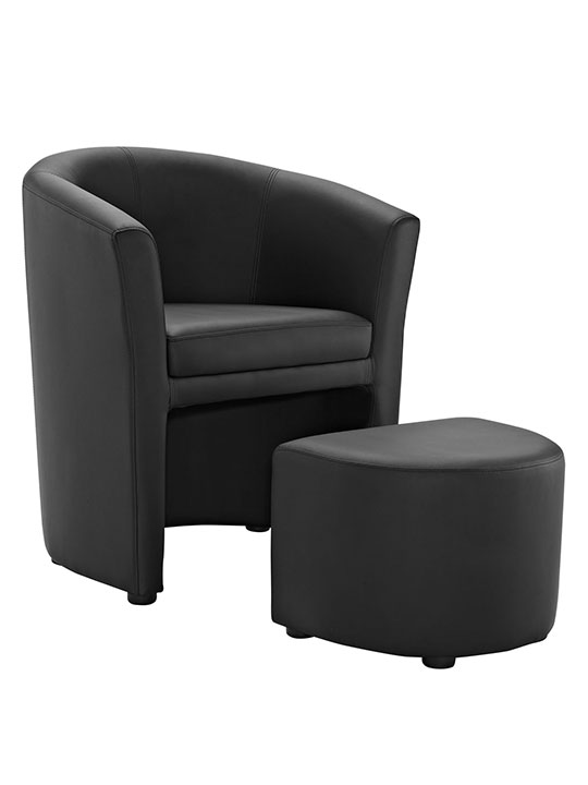 Sequence Chair and Ottoman Set