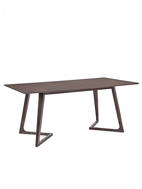 Sherwood Walnut Wood Dining Table 461x614