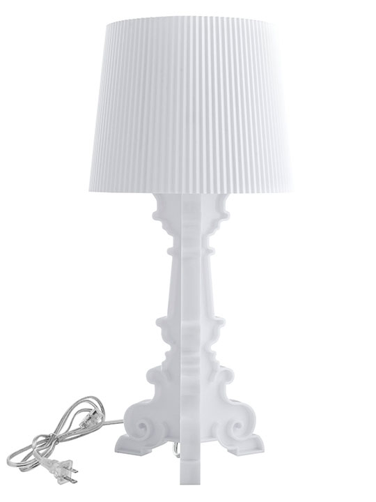 White Acrylic Table Lamp