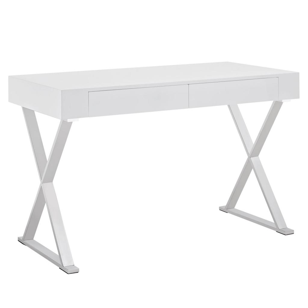 White Glam Desk