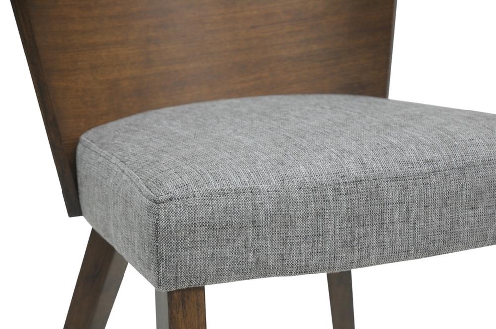 helsinki chair gray fabric modern