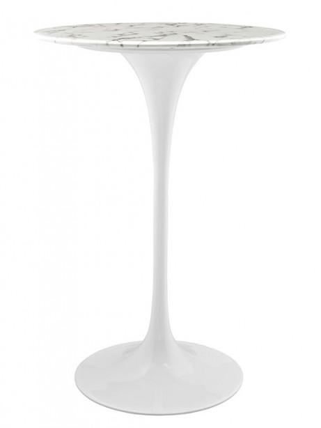 Brilliant White Marble Bar Table 461x614