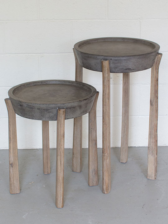 Concrete Wood Nesting Tables