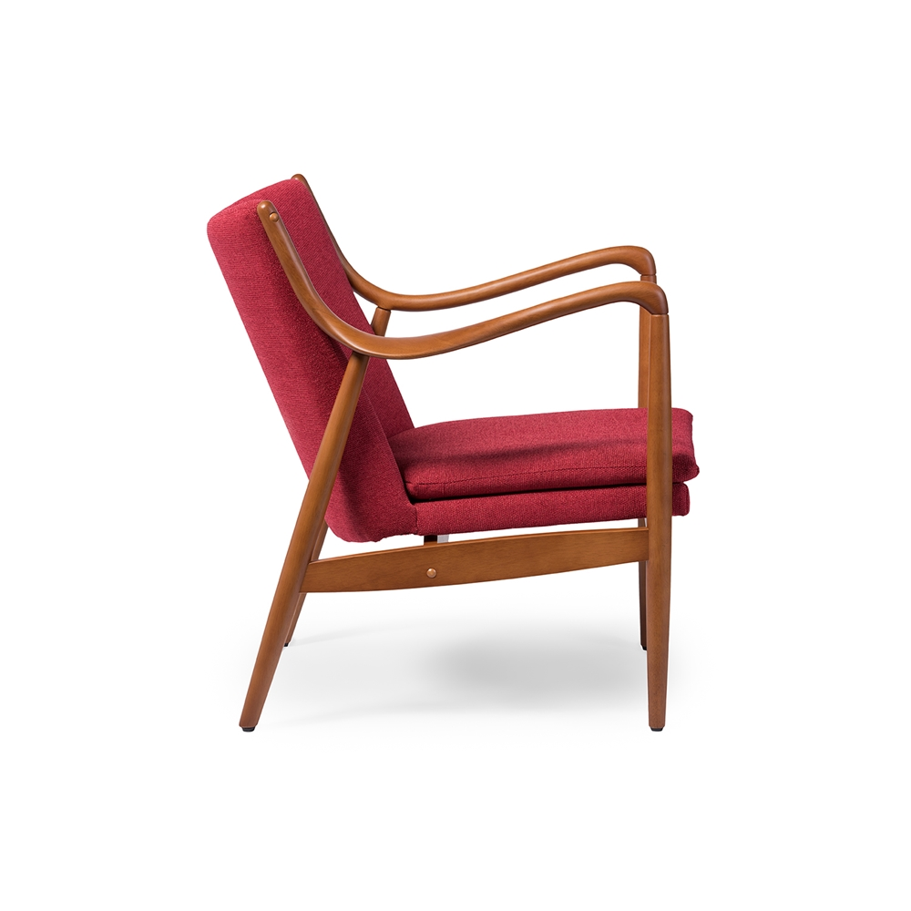 Finian Red Accent Armchair 2