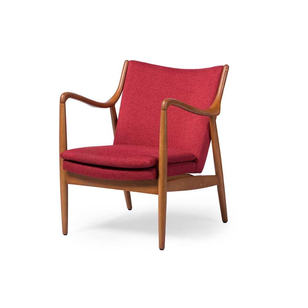 Finian Red Accent Armchair