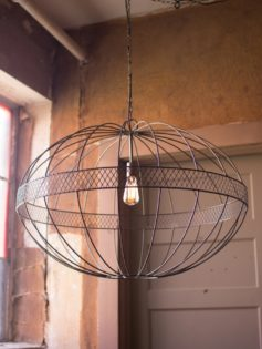 Industrial Black Iron Metal Globe Chandelier 2 237x315
