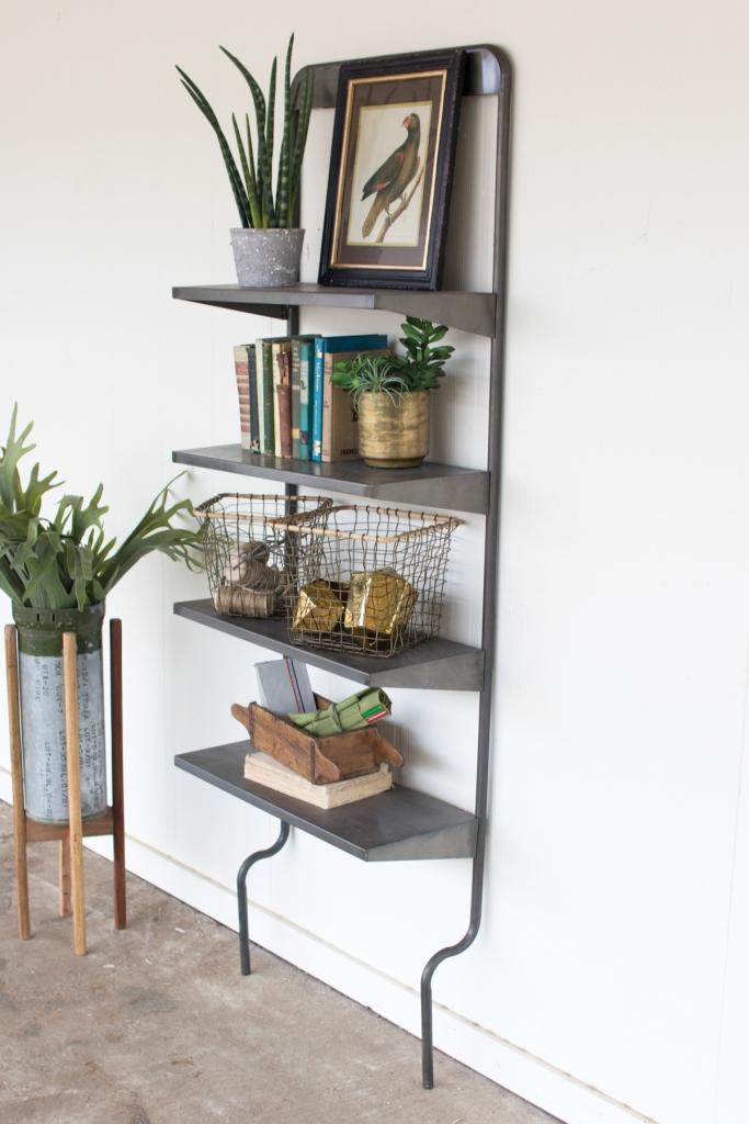 Iron Leaning Wall Shelf 1