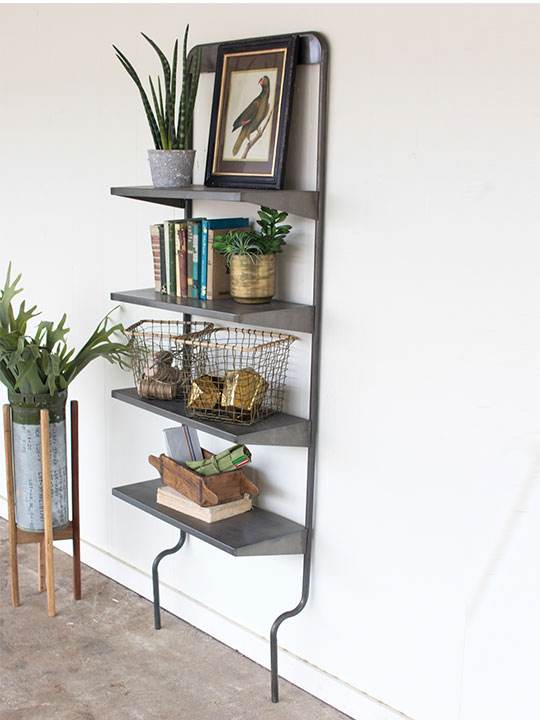 Iron Leaning Wall Shelf