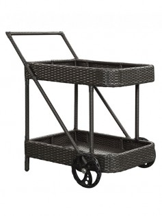 Outdoor Rattan Rolling Cart 237x315