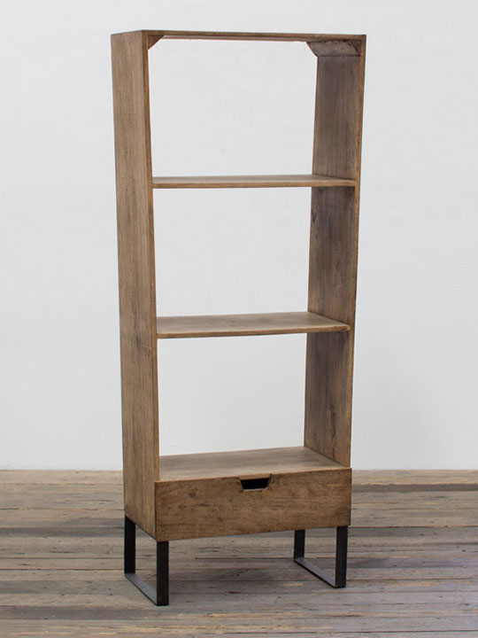 Wooden Side Shelving Unit
