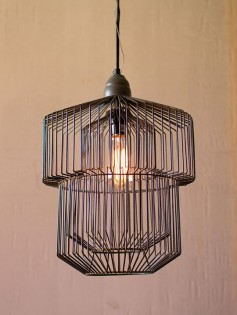 Black Wire Pendant Light 237x315