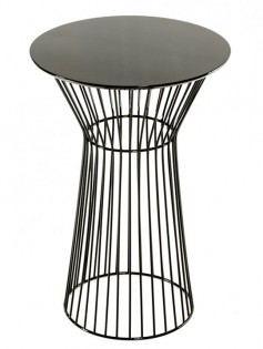 Black wire bar table 237x315