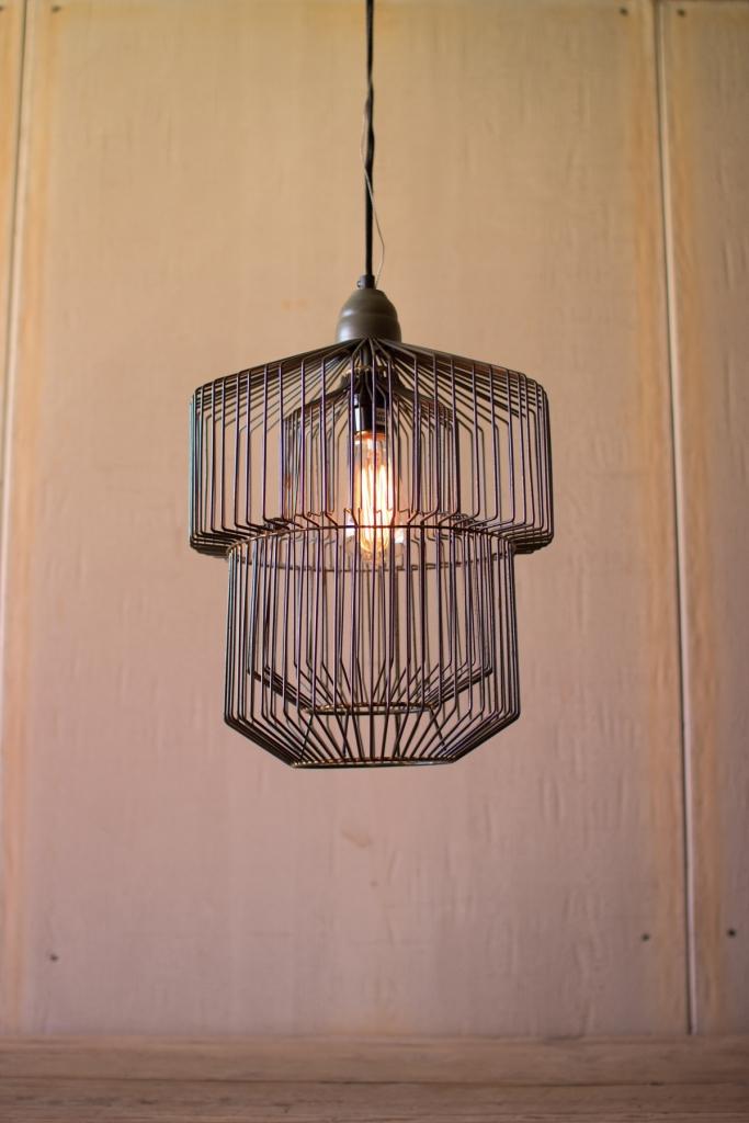 Black wire pendant lighting