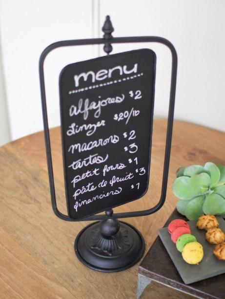 Chalkboard swivel table menu 1 461x614