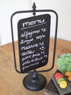 Chalkboard swivel table menu 237x315