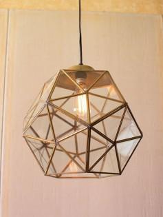 Gold Metal Glass Geometric Large Pendant Light  237x315