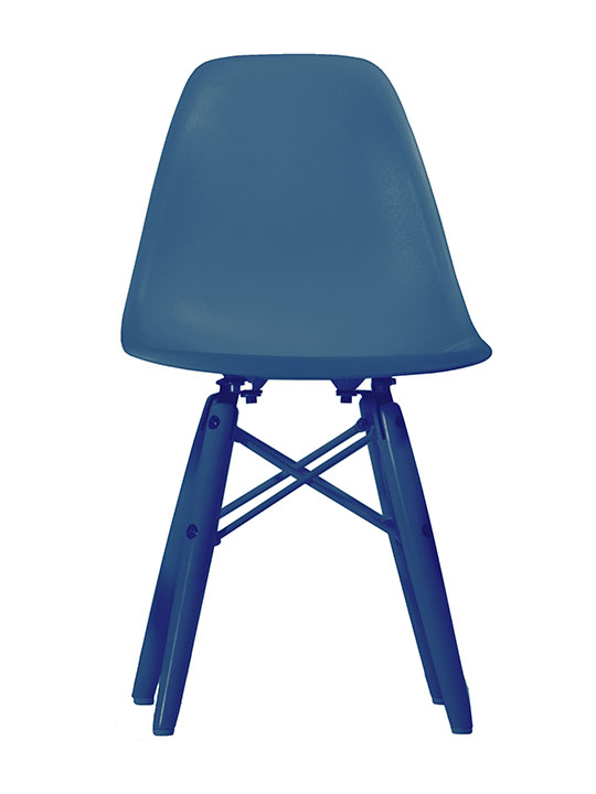 Kids ceremony colored chair blue