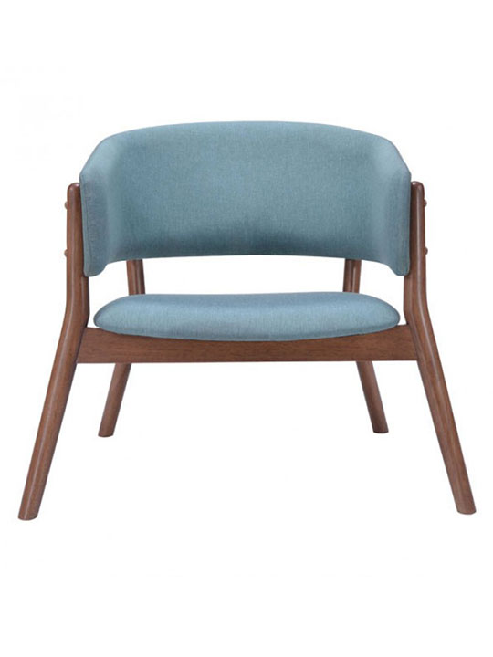Mariner Blue Wood Accent Chair