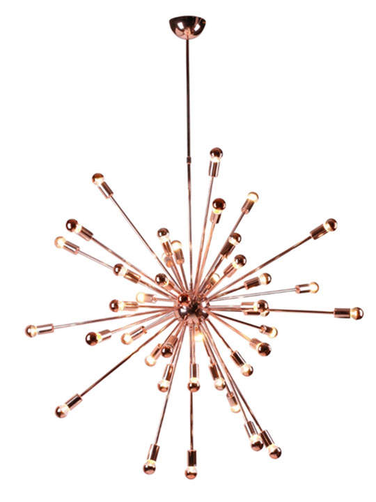 Sputnik large chandelier rose gold