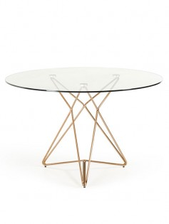 Symmetry rose gold glass table 237x315
