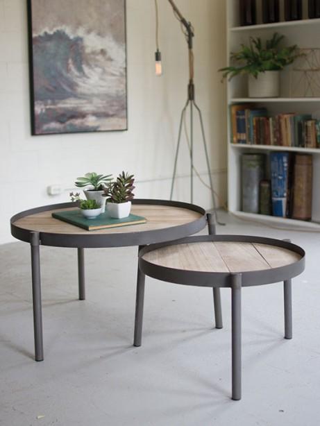 Wood Iron Nesting Table Set 461x614