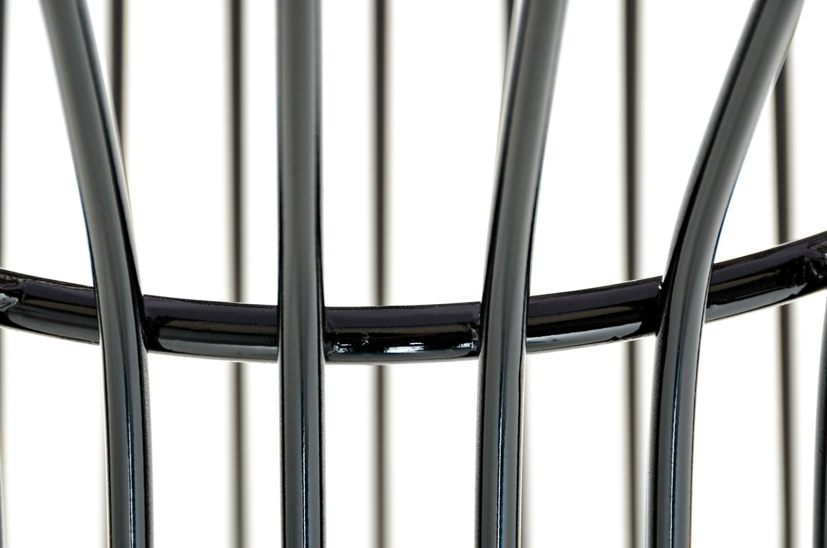 black wire table bar