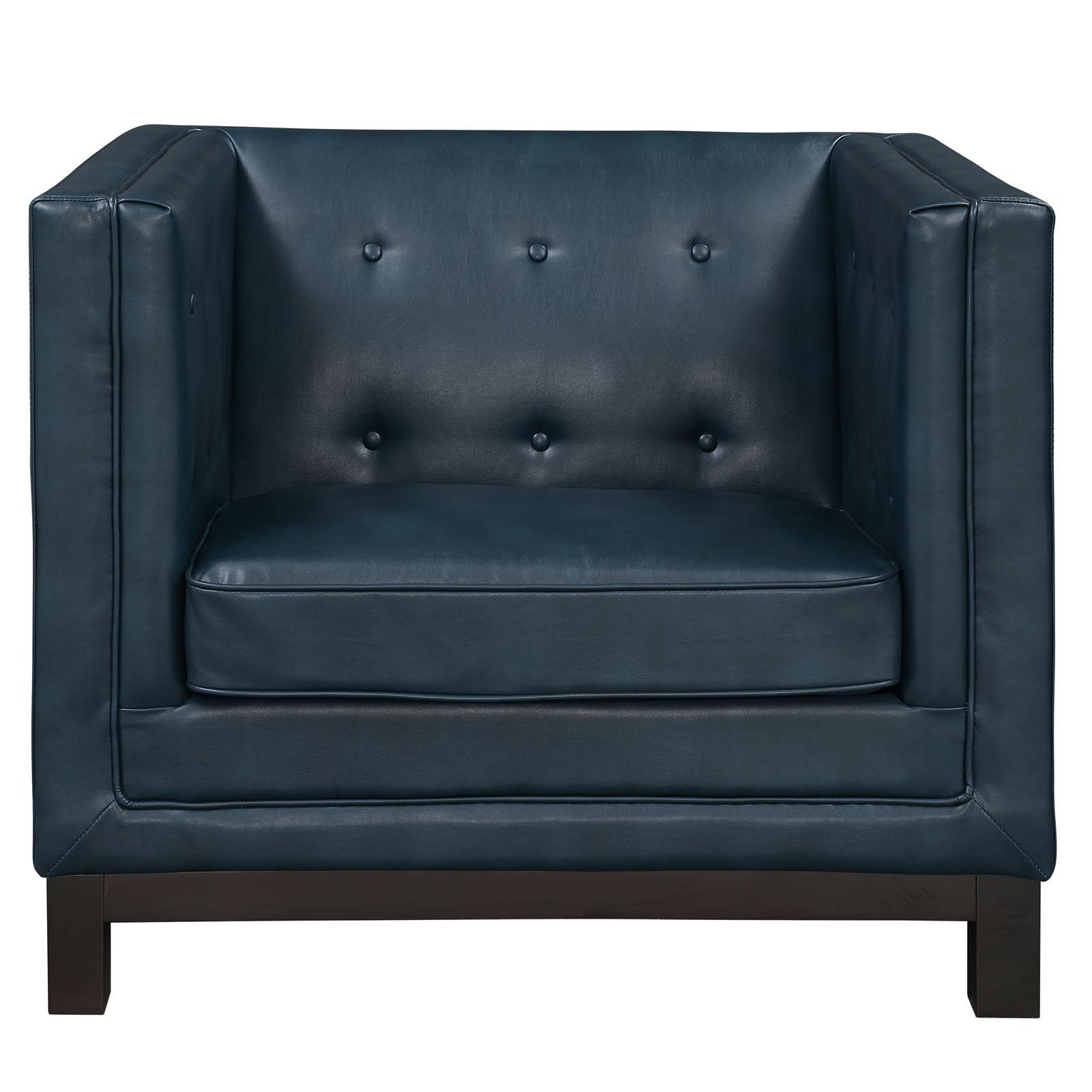 empire sofa armchair blue