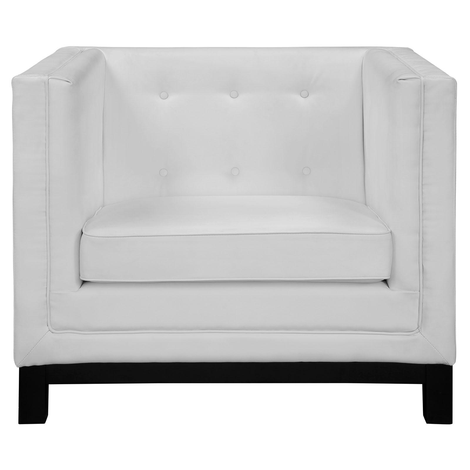 empire sofa armchair white