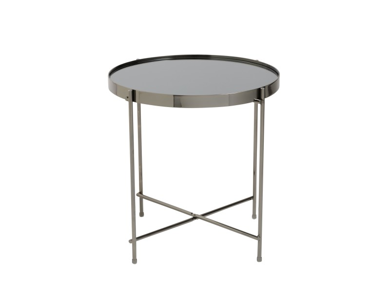 french black gunmetal metallic side table 3