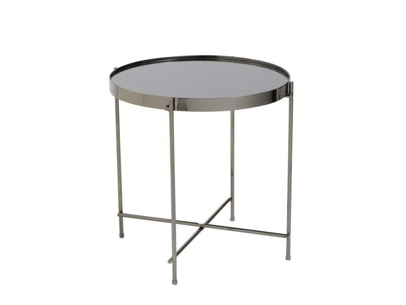 french black gunmetal metallic side table 4