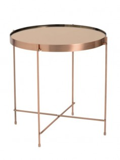 french copper metallic side table 237x315