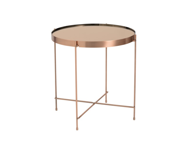french copper metallic side table 3
