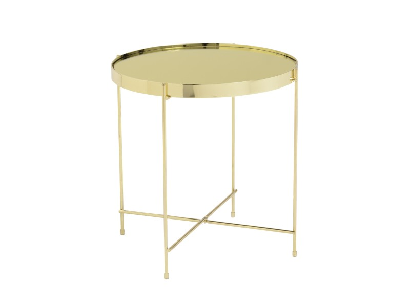 french gold metallic side table 2