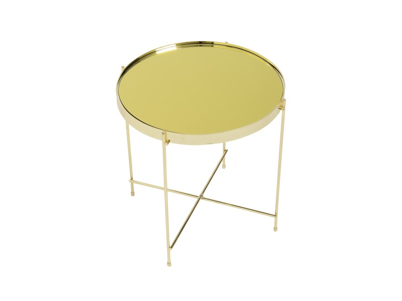 french gold metallic side table 3