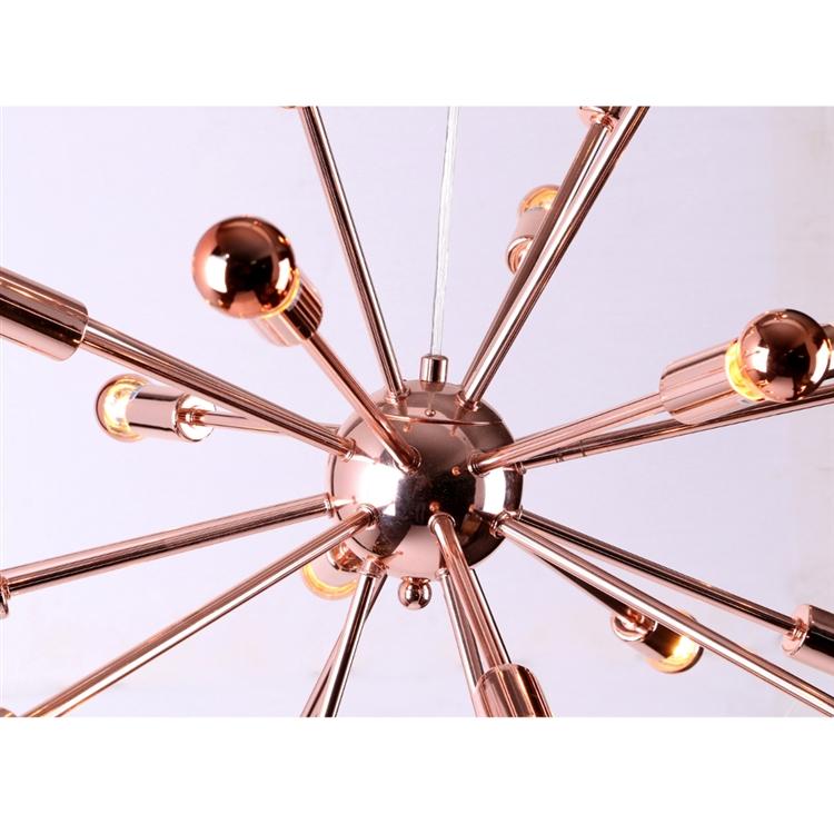 medium sputnik rose gold chandelier