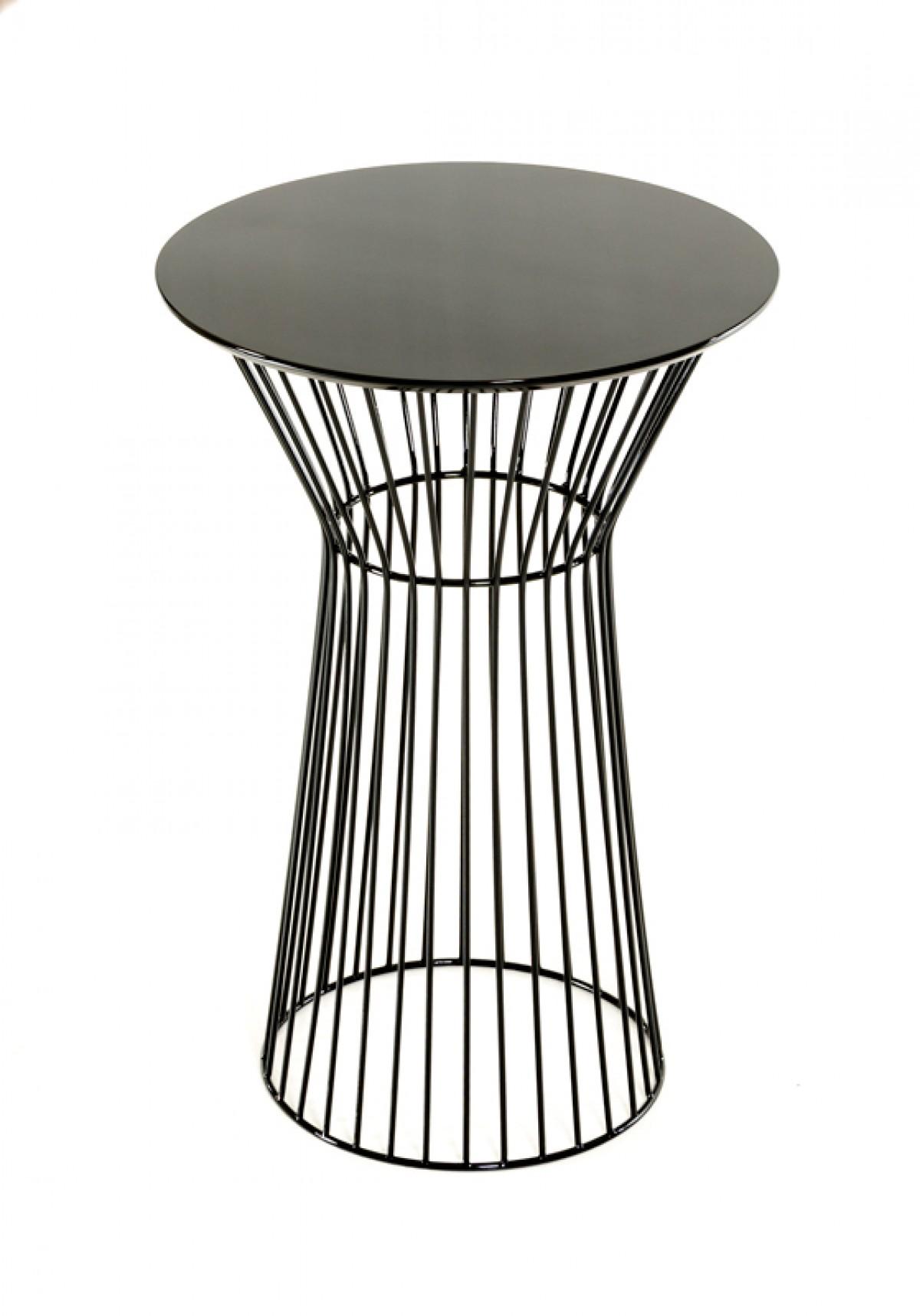 modern black wire bar table