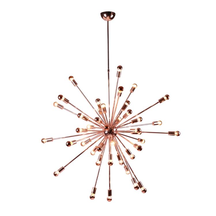 sputnik chandelier large rose gold