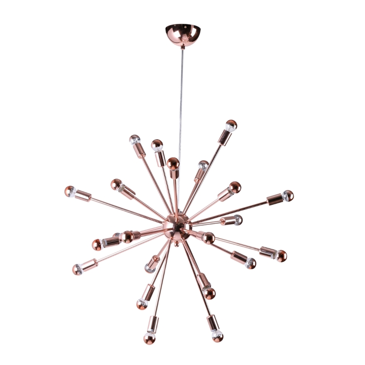 Sputnik rose gold chandelier modern furniture brickell collection sputnik rose gold chandelier medium aloadofball Choice Image