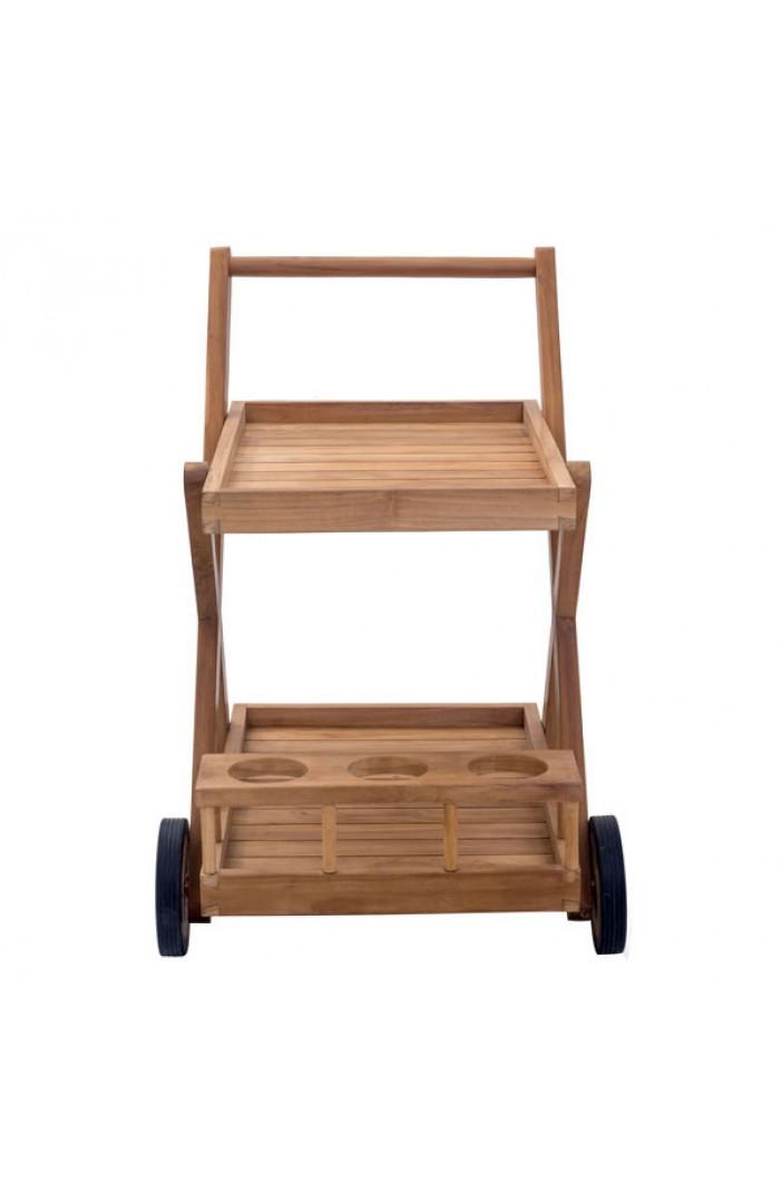 teak outdoor bar cart