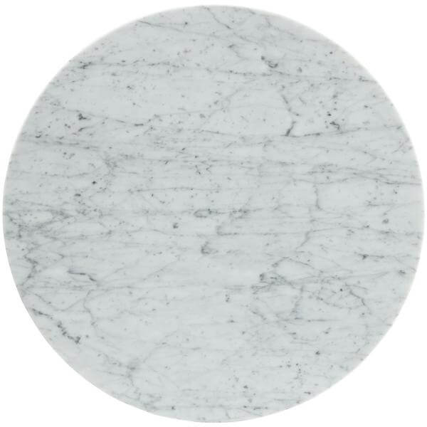 white marble tulip end table