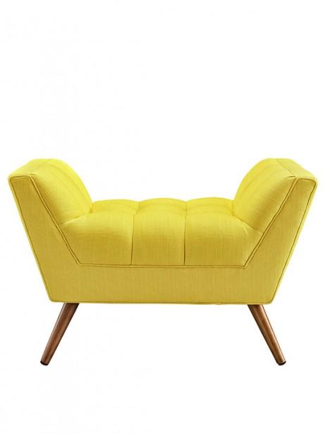 Hued color fabric ottoman 461x614
