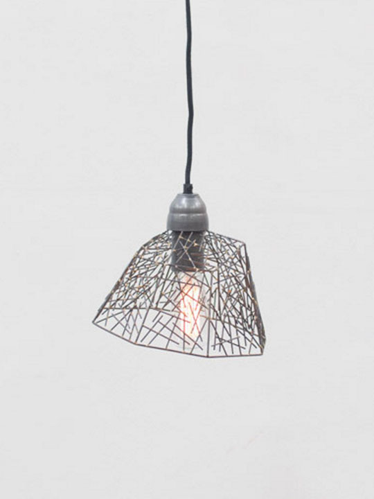 Wire Sculpture Pendant Light