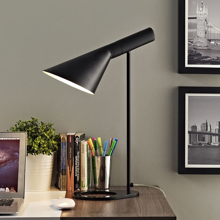 retro mod table lamp black